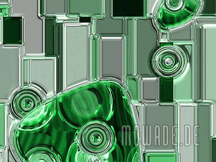 moderne bildtapete gruen grau metall-optik vlies