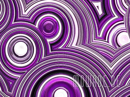 moderne tapete violett weiss schwarz kreise