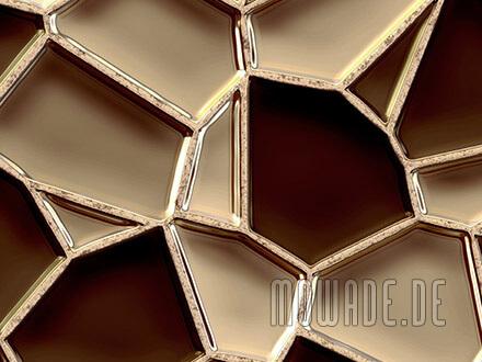 moderne vliestapete braun mosaik metall-optik waben