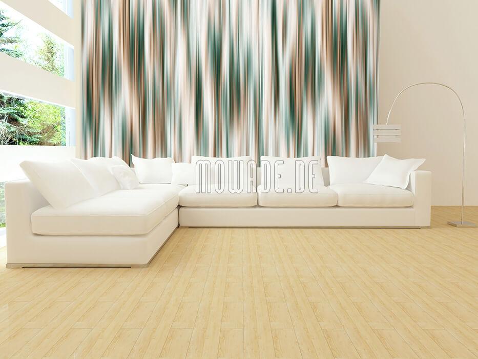 moderne wandgestaltung gruen braun schimmernde streifen-tapete