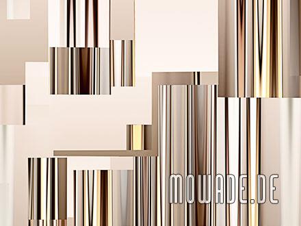 modernes wanddesign braun bild-tapete vlies abstrakte stadt-ansicht skyline