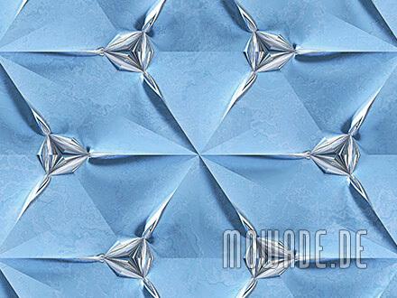 modernes wanddesign hellblau silber vliestapete