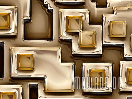 modernes wandmotiv xxl gold braun metall-optik vliestapete pueblos
