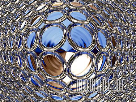 raumbild blau gold tapete glamour disco-kugel