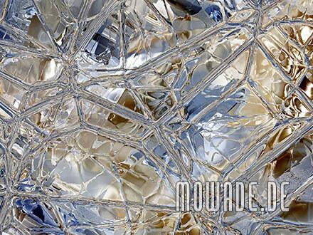tapetendesign blau braun glas mosaik vlies
