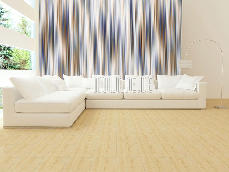 tapetendesign blau braun schimmernde streifen wohnzimmer wunschformat online-shop