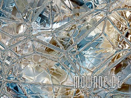 tapetendesign tuerkis braun mosaik glas wohnzimmer wunschformat