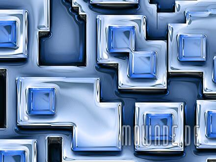 tapetenshop online blau 3d-optik pueblos