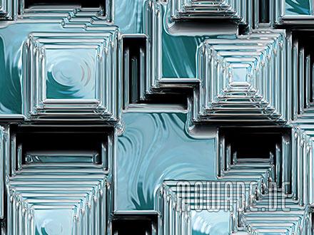 tapetenshop online tuerkis 3d-optik pyramiden