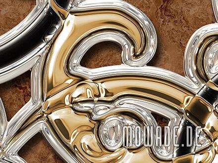 vliestapete braun gold schwarz ornament xxl