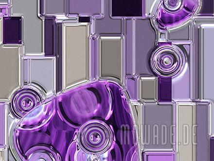 vliestapete violett grau metall-optik bild kreise rechtecke