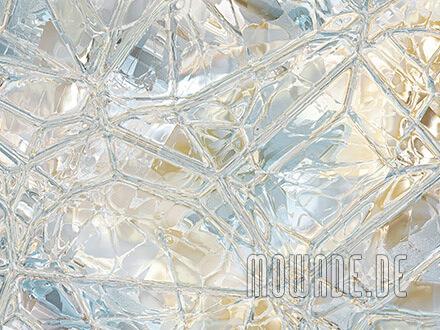 wandgestaltung glas mosaik pastell tuerkis ocker bildtapete wohnzimmer