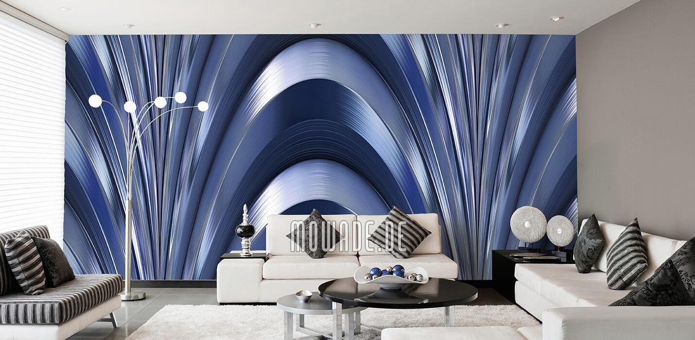 wandmotiv grosser bogen blau vliestapete