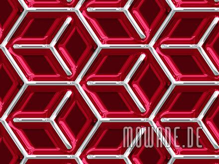 retro fototapete rot metall-look wuerfel