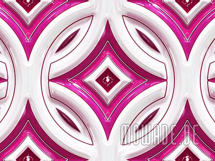 retro tapeten pink weiss rundes muster mit stern