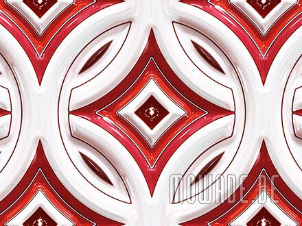 retro tapeten rot weiss rundes muster mit stern
