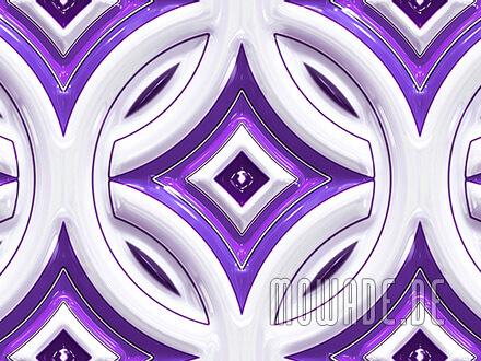 vliestapete violett weiss retro kreise mit stern 3d-optik