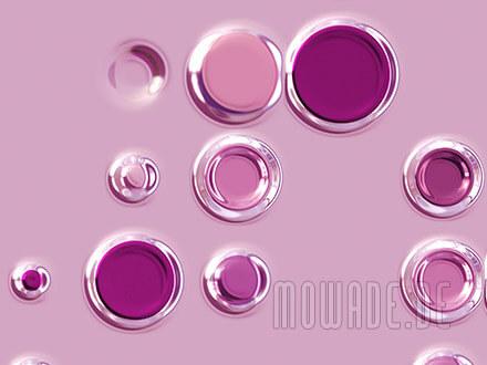 wanddesign modern rosa punkte kreise retro-tapeten