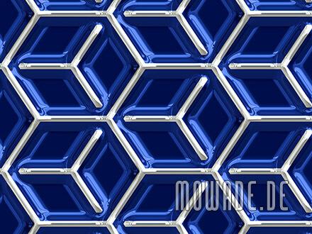 wandgestaltung geometrisches muster wuerfel vliestapete metall-optik