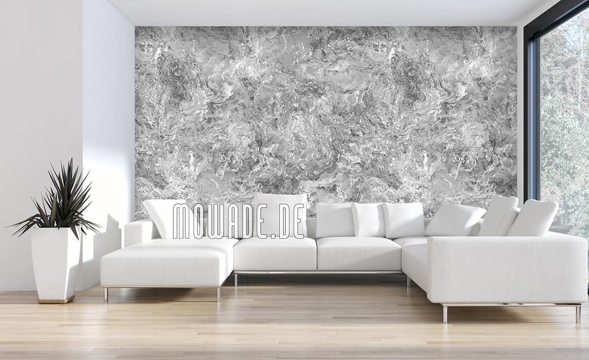 schoene tapeten grau wohnzimmer elegante lebhafte struktur