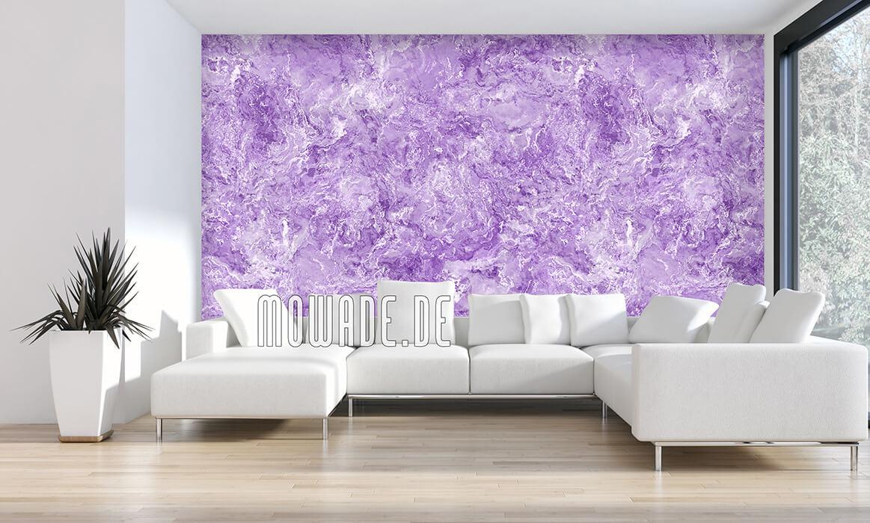 edles tapeten design pastell-flieder weiss feine erd-stein-struktur wohnzimmer lounge galatea