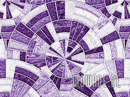 wandtapete mosaik violett glanz-optik rund-kreise