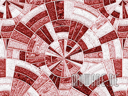 wohnzimmer tapeten rot mosaik-kreise glanz-optik