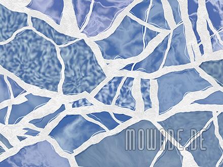 schlafzimmer-tapete graublau weiss mosaik vlies