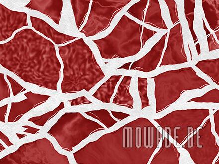 schlafzimmer tapete rot weiss mosaik vlies