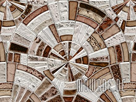 vintage tapeten braun grau mosaik kreise vlies