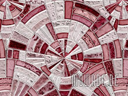 vintage-tapeten rot grau mosaik kreise vlies