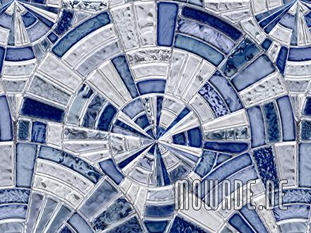 wohnzimmer design-tapeten blau grau vintage mosaik