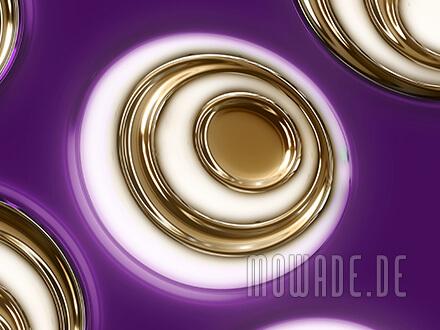 edle tapete lila gold moderne retro ovale