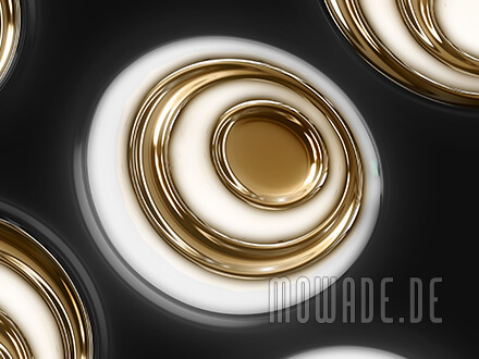 edle tapete schwarz gold moderne retro ovale