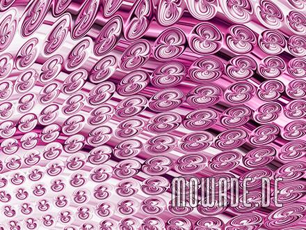 elegante vliestapete rosa schlafzimmer