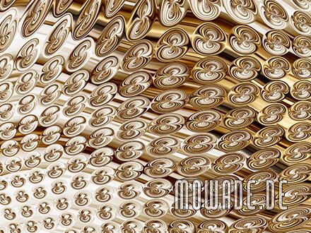 extravagante tapete gold vlies modernes muster