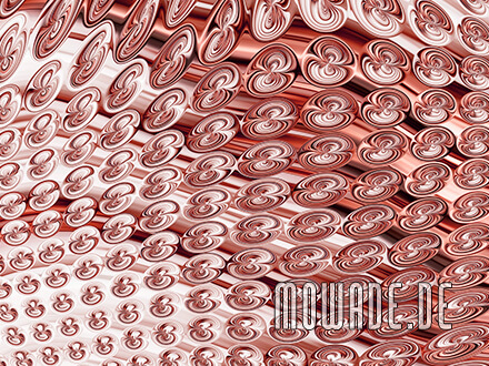 extravagante tapete kupfer vlies modernes muster