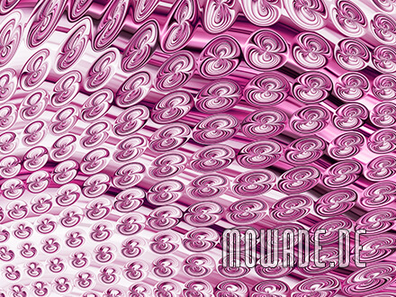extravagante tapete rosa vlies modernes muster