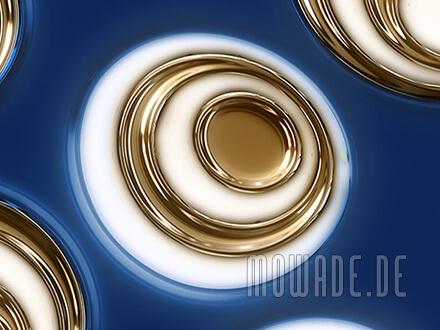 retro wohnzimmer tapete vlies blau gold ovale