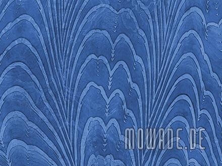 exklusive tapete blau dezentes damast-muster
