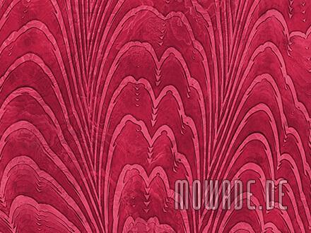 exklusive tapete rot dezentes damast-muster