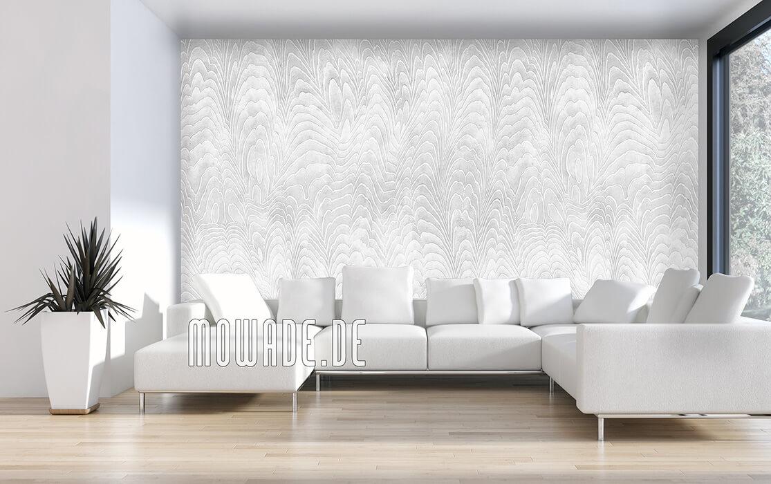 extravagantes tapeten design weiss damast-wellen vlies