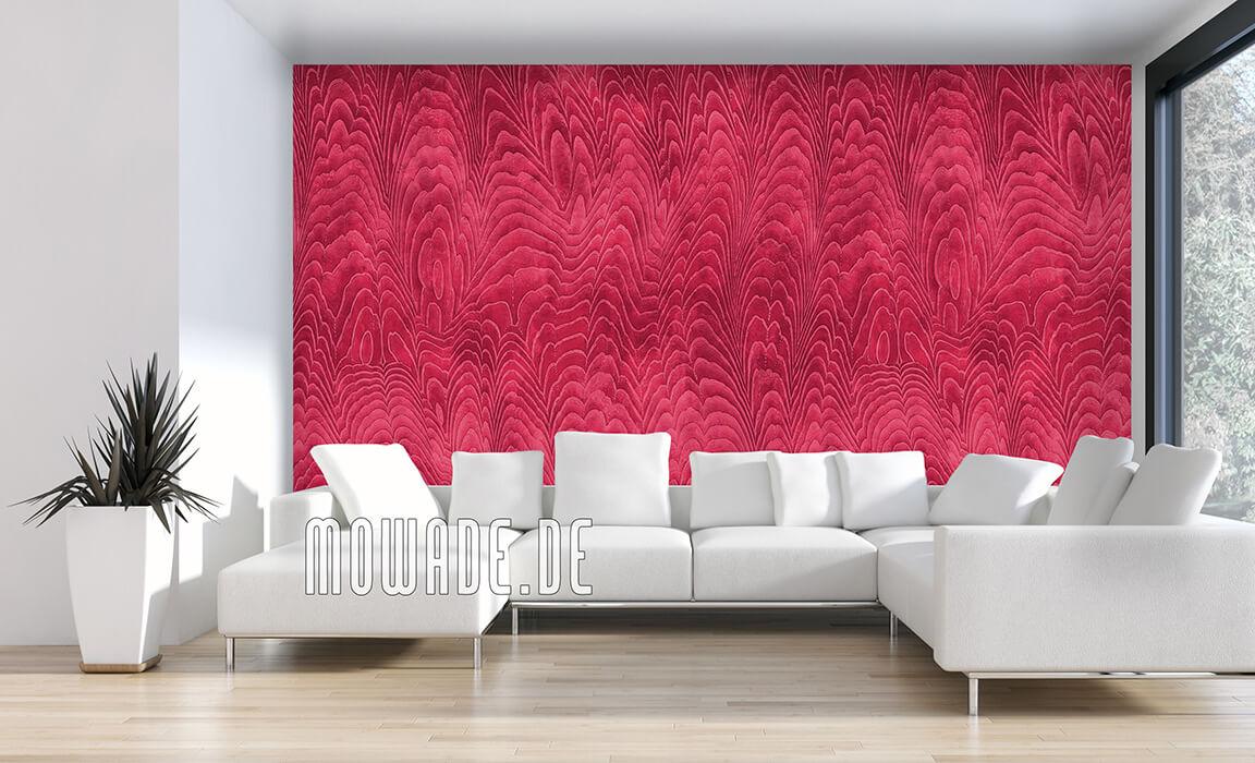 rote tapete elegantes damast-muster vlies