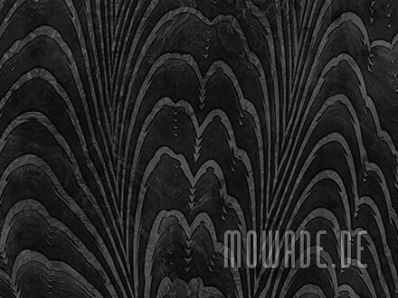 vliestapete schwarz edles damast-muster