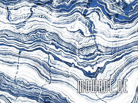 tapete stein weiss blau schichten