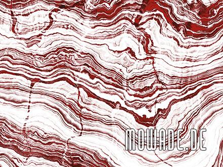 tapete stein weiss rot schichten