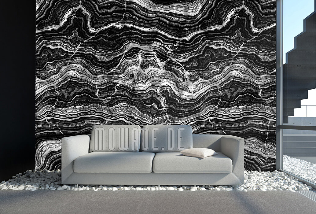tapete steinoptik grau wohnzimmer gesteinsschichten