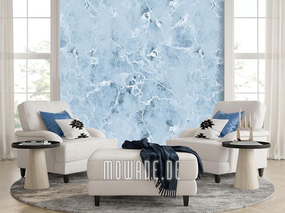 tapeten online kaufen pastell-blau verwaschene steinoptik