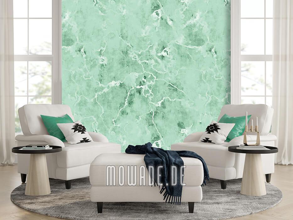 vliestapete pastell gruen ausgeblichene steinoptik
