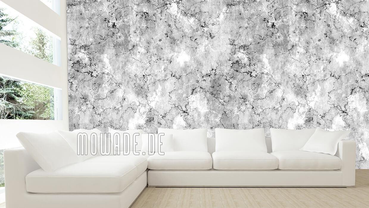 vliestapete steinoptik grau vintage shabby wohnzimmer